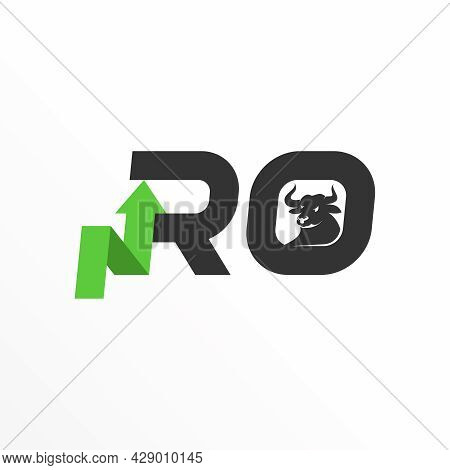 Letter Ro Free Logo Vector Stock. Bull Abstract Design Concept. Can Be Used As A Symbol Related To T