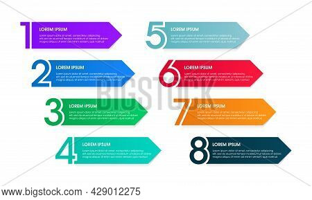 Vector Set Of Infographic Elements For Numbering Labels Of The Steps Of A Process. Perfect For Prese