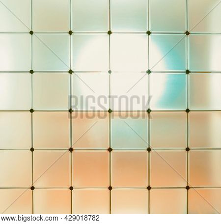 Abstract background of a transparent partition in a cube