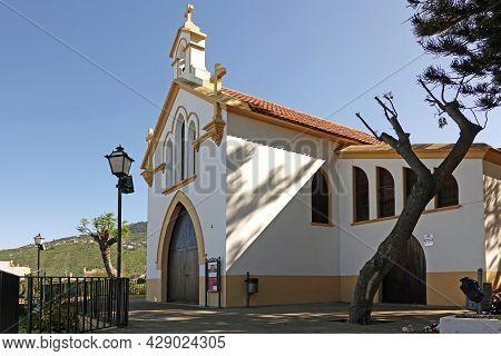La Orotava, Tenerife, Spain-01 January 2020. Church Iglesia Calvario In La Orotava Town, Tenerife, S