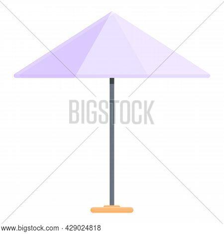 Garden Umbrella Icon Cartoon Vector. Parasol Sunshade. Outdoor Umbrella