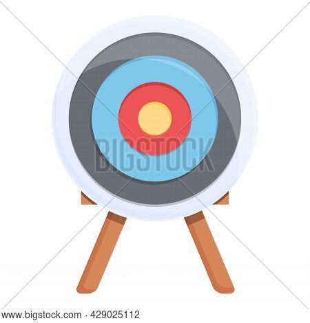 Archery Target Icon Cartoon Vector. Arrow Bullseye. Goal Aim