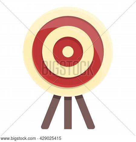 Archery Target Stand Icon Cartoon Vector. Bullseye Goal. Archery Shot