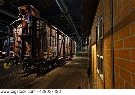 Mulhouse, France, June 26, 2021 : Old Station In La Cité Du Train (train City), Formerly Named Frenc