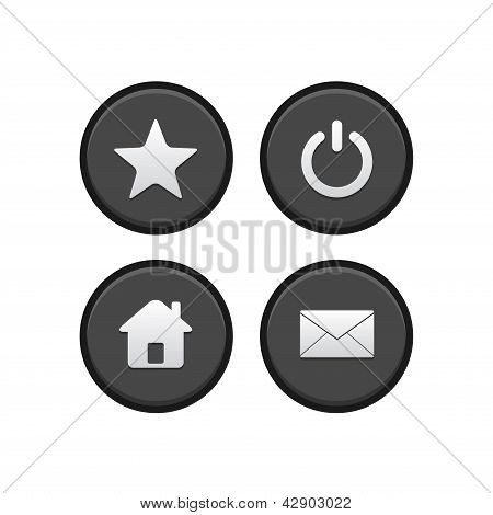 Star, Power, Home and Email Button