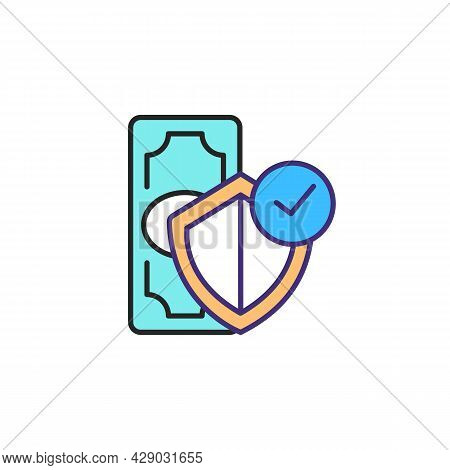 Financial Order Rgb Color Icon. Adulthood Development. Stability Income. Budget Balance. Funding, Pr