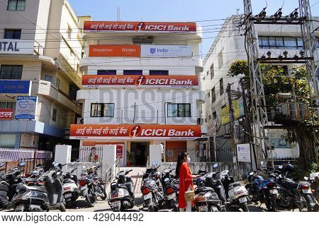 Branch Of Icici Bank Provides Retail Banking Services. Icici Bank Branch, Which Is India's One Of Th
