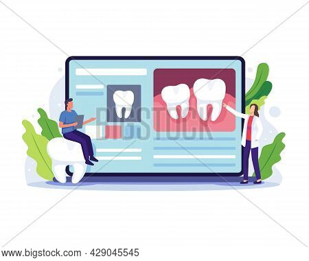 Dentist Online Consultation Concept