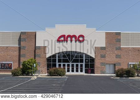 Muncie - Circa August 2021: Amc Movie Theater. Amc Is Adjusting To Movie And Entertainment Studios S