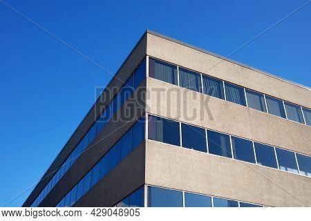 Office Building Concrete And Window Workplace Cityscape Skyscraper Business