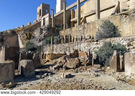 Ruins And Remains Of Buildings In The Abandoned Mines Of Mazarron