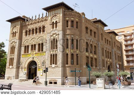 Castellon, Spain. June 14, 2021 - Post Office Building, Inaugurated In 1932, By The Architects Demet