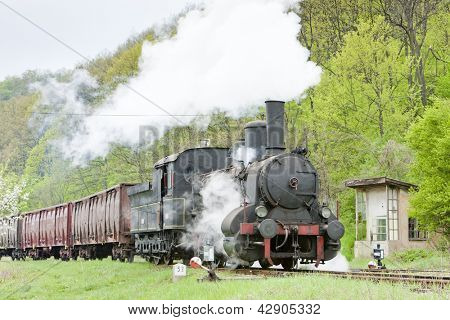 steam freight train, Resavica, Serbia