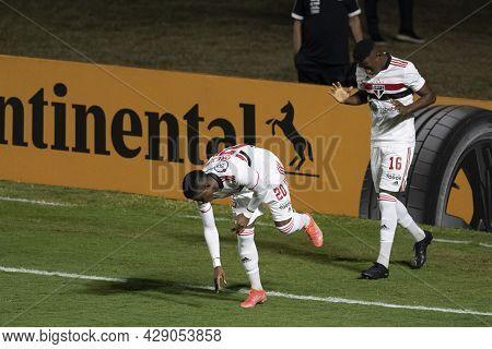 Rio, Brazil - August 04, 2021: Orejuela Player In Match Between Vasco Vs Sao Paulo By Brazilian Cup