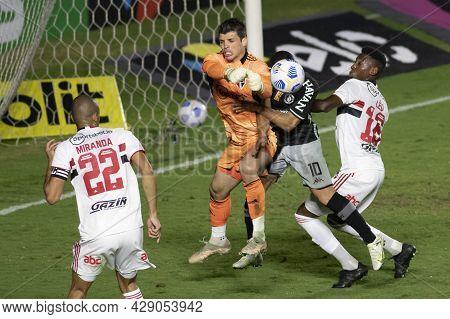 Rio, Brazil - August 04, 2021: Morato Player In Match Between Vasco Vs Sao Paulo By Brazilian Cup In