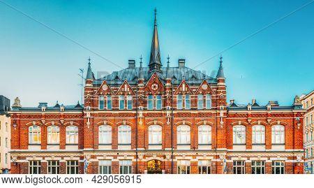 Helsinki, Finland. Finnish Design Museum Or Designmuseo Building. Designmuseum Researches, Collects,