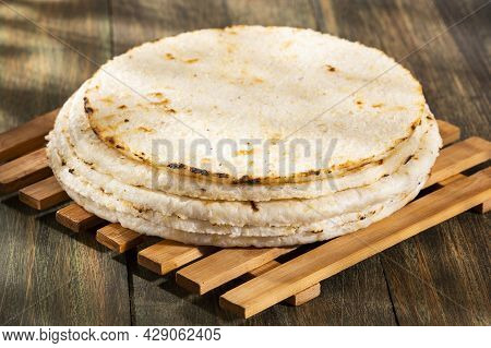 Colombian Arepa - Traditional Colombian Food. Delicious Breakfast