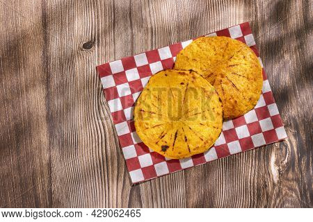 Arepa Of Ground Corn - Traditional Colombian Food