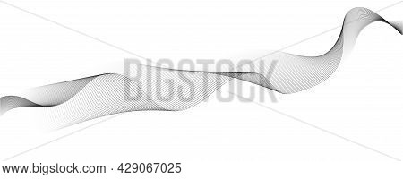 Abstract Line Art. Design Of Pattern From Lines. Blended Black Lines On White Background. Vector Ill