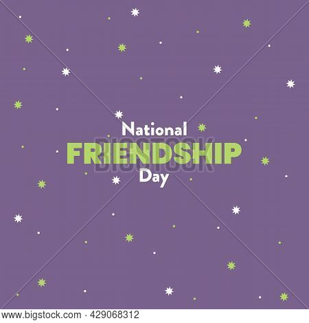 National Friendship Day Typography Vector Design. Celebrate Friendship