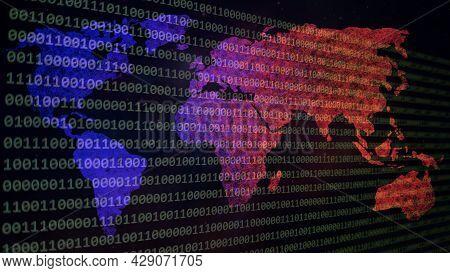 Website Development. Developer Working On Program Codes In Office. Computer Program. Programmer Work