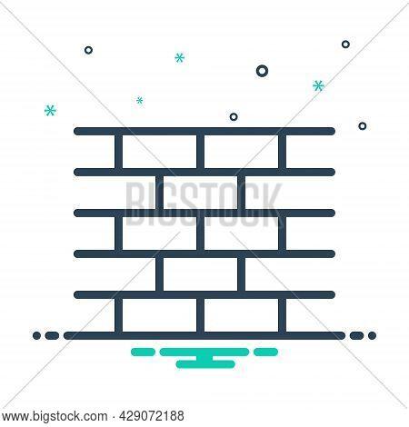 Mix Icon For Brick-wall Brick Wall Snag Occlusion Impetigo Brickbat Enclosure Parapet Build Texture