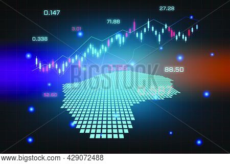 Stock Market Background Or Forex Trading Business Graph Chart For Financial Investment Concept Of Le
