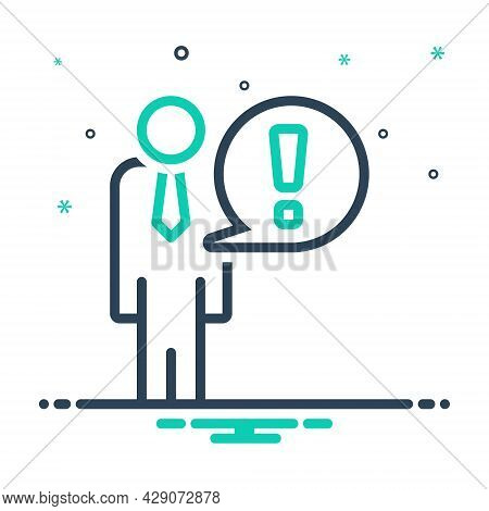 Mix Icon For Fact Matter Certainty Datum Exclamation Alert Help Case Evidence Authenticity Reality