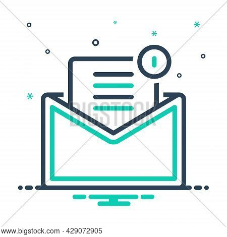 Mix Icon For Mail Email Tidings Communication Newsletter Message Inbox Envelope Notification