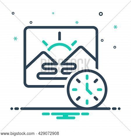 Mix Icon For Morning Before-noon Dawn Daybreak Daylight Am Sunrise Daytime Natural Mountain