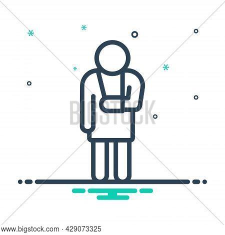 Mix Icon For Pain Suffering Anguish Injury Distress Torment Strain Irritation Trouble Broken-bone