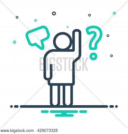 Mix Icon For Question Query Interpellation Qusere Doubt Hesitance Inquiry