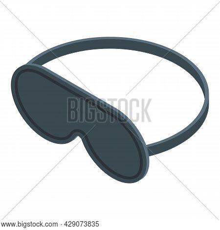 Sleeping Mask Icon Isometric Vector. Sleep Night Eye. Blind Sleeping Mask