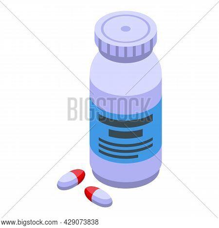 Sleeping Capsule Icon Isometric Vector. Pill Supplement. Omega 3 Capsule