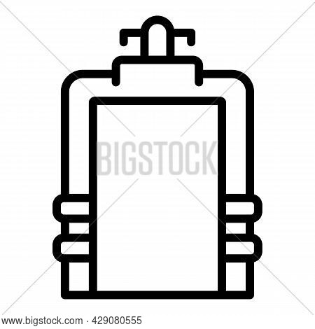 Airport Gate Scanner Icon Outline Vector. Security Control. Check Boarding