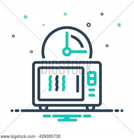 Mix Icon For Quickly Machine Appliance Timer Soon Speedily Facilely Hastily In-a-hurry Swiftly Pront