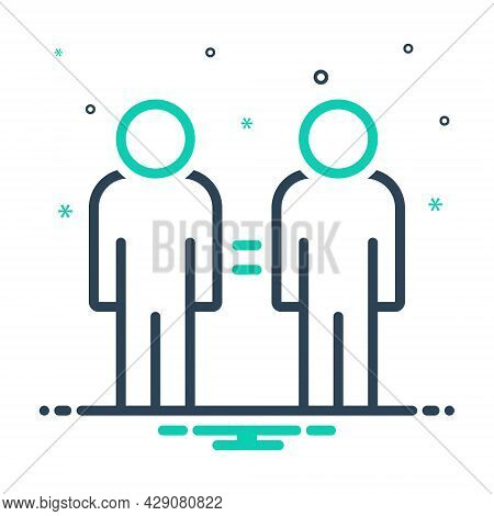 Mix Icon For Same Common Equal Tantamount Twin Duplicate Coequal Compeer Equivalent