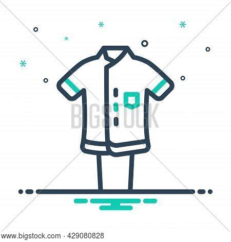 Mix Icon For Uniform Dress Costume Attire Toilette Habiliments Vestment Clothes Raiment Garment