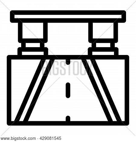 Highway Bridge Icon Outline Vector. Road Perspective. Way Building