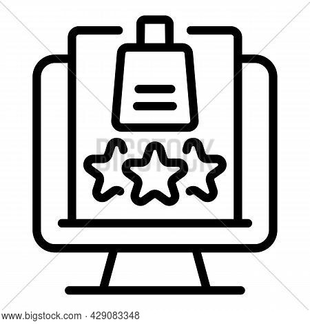 Rating Product Icon Outline Vector. Customer Review. Experience Satisfaction