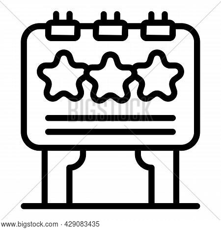 Product Billboard Icon Outline Vector. Featured Data. Survey Buy
