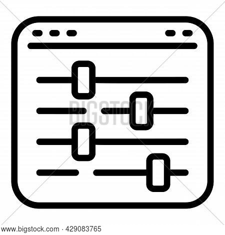 Equalizer Icon Outline Vector. Equal Balance. Business Equilibrium