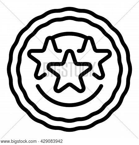 Emblem Icon Outline Vector. Round Badge. Geometric Emblem