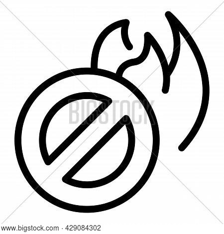 Fire Firefighter Icon Outline Vector. Sos Emergency. Call Button