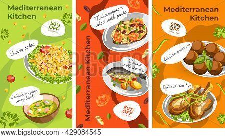 Dishes Of Mediterranean Cuisine Menu With Discount