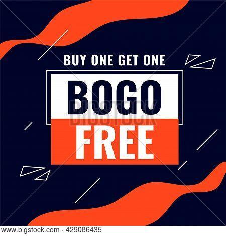 Buy One Get One Bogo Sale Abstract Background Design Vector Illustration