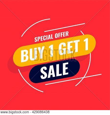 Special Offer Buy One Get One Sale Template Design Vector Illustration