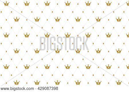 Premium Crown Pattern Texture Background Design Vector Illustration