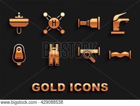 Set Work Overalls, Water Tap, Industry Metallic Pipe, Toilet Urinal Pissoir, Pipe Adapter, Washbasin