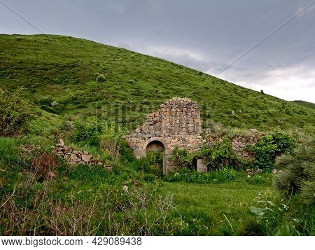 Remains Of Monastery Gates Of Havuts Tar Near Garni, Armenia. Complex Was Ruined & Abandoned After E